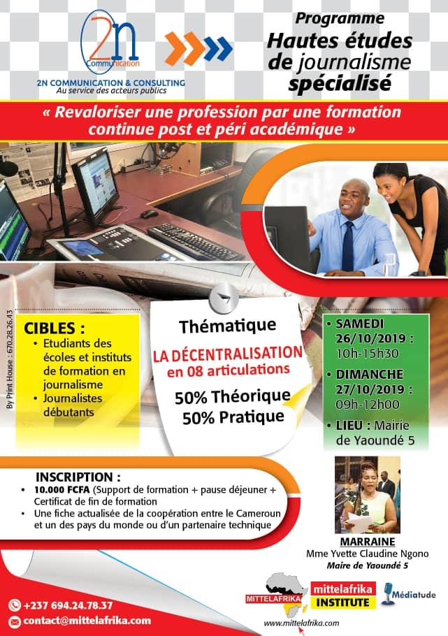 Programme Hautes Études de journalisme spécialisé