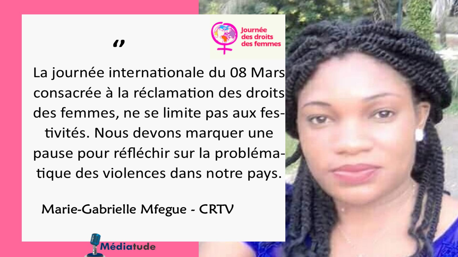 Marie Gabrielle Mfegue: « La femme devrait avoir plus de confiance en elle.»