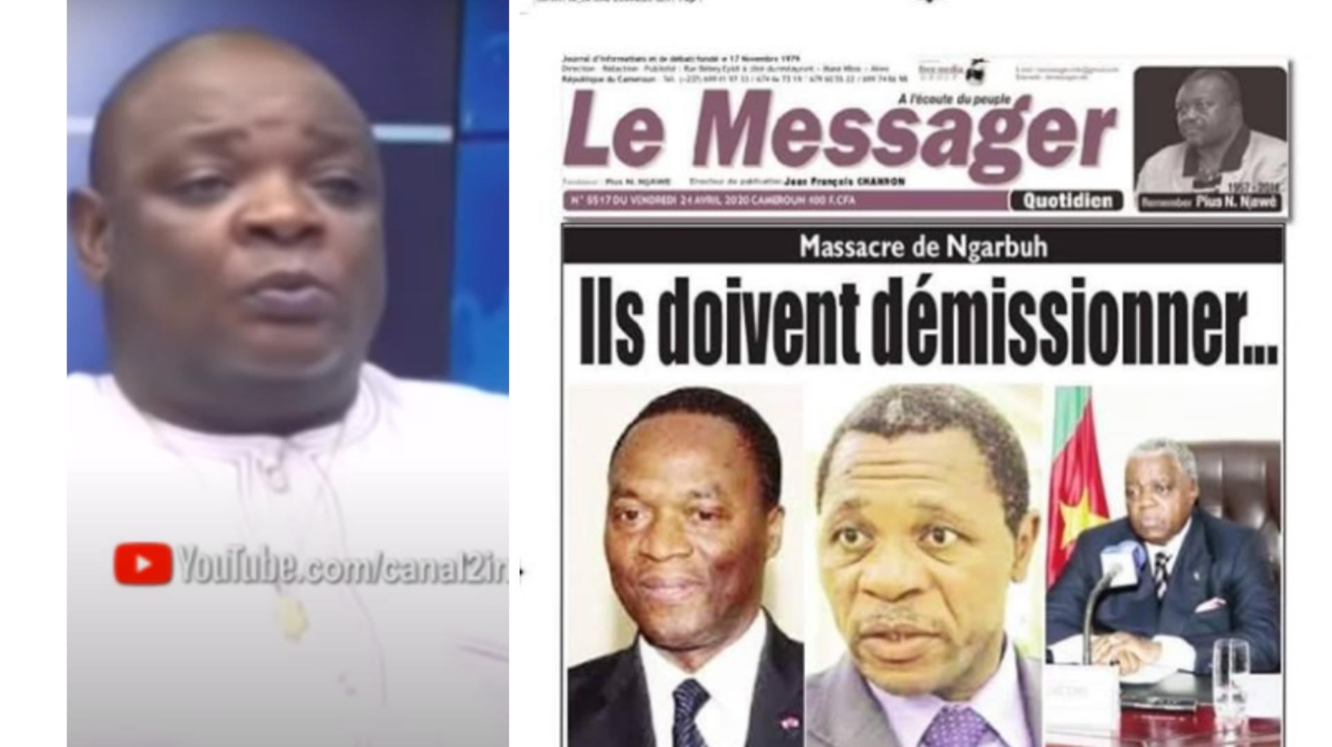 Jean François Channon dit avoir été menacé au téléphone par un Ministre après sa Une du 24 avril