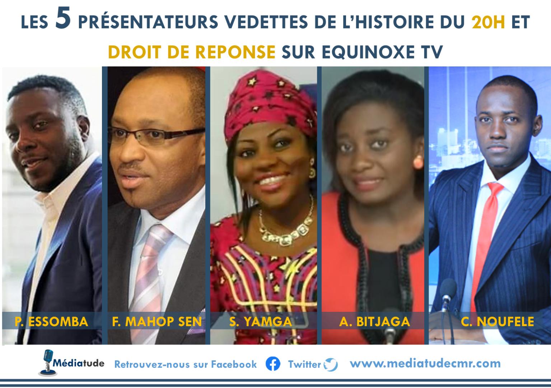 Les 5 présentateurs vedettes de l'histoire du 20h et « Droit de Réponse » sur Equinoxe Tv