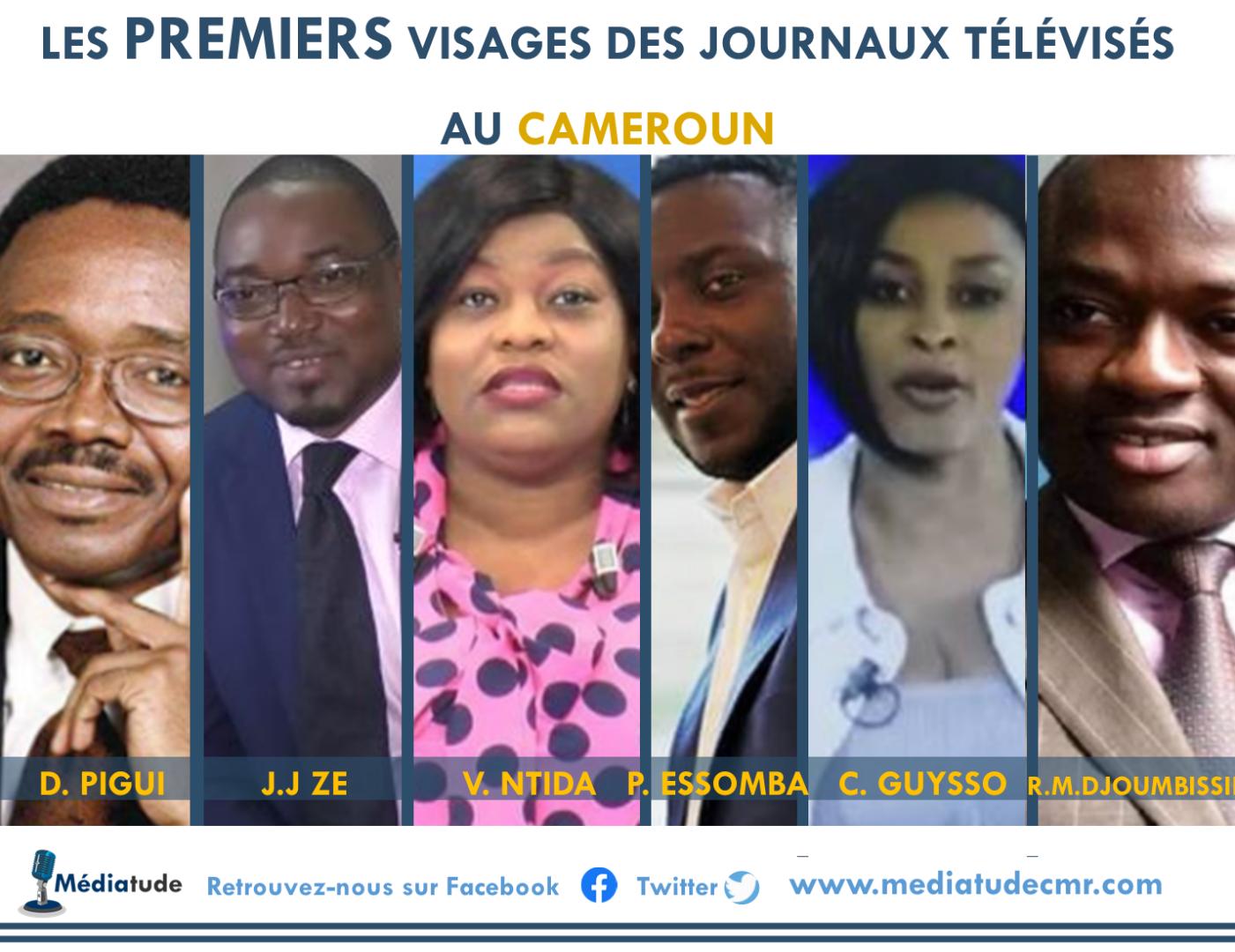 Les premiers visages des journaux télévisés au Cameroun
