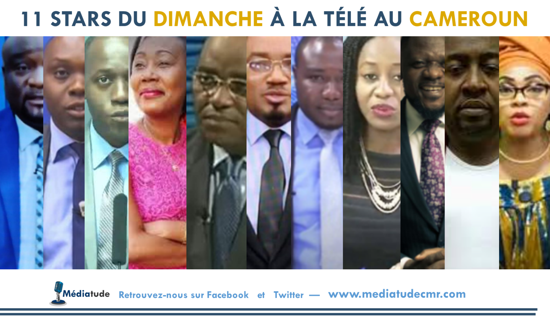 11 stars du dimanche à la télé au Cameroun