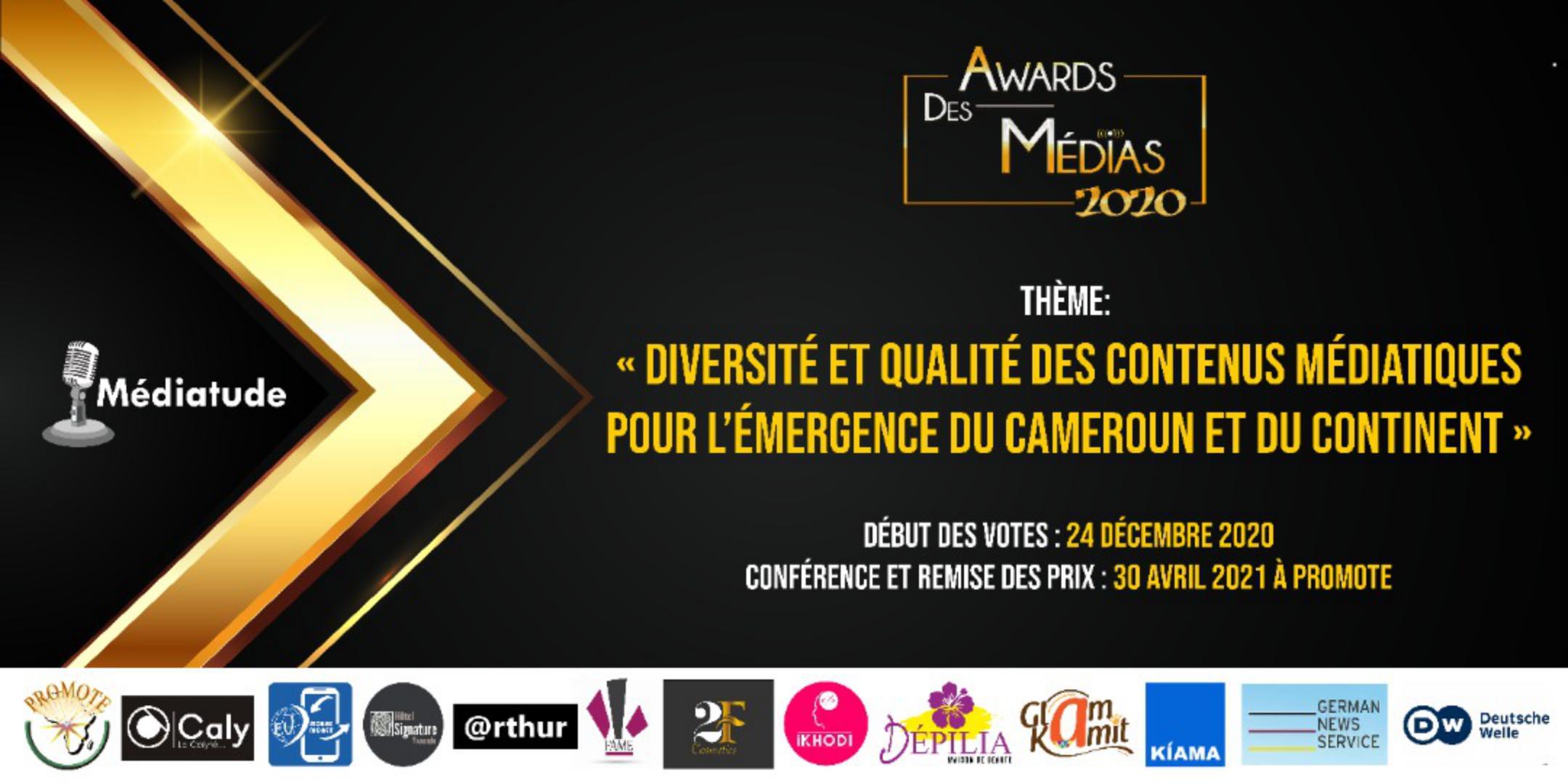 Règles d'attribution Awards des Médias 2020