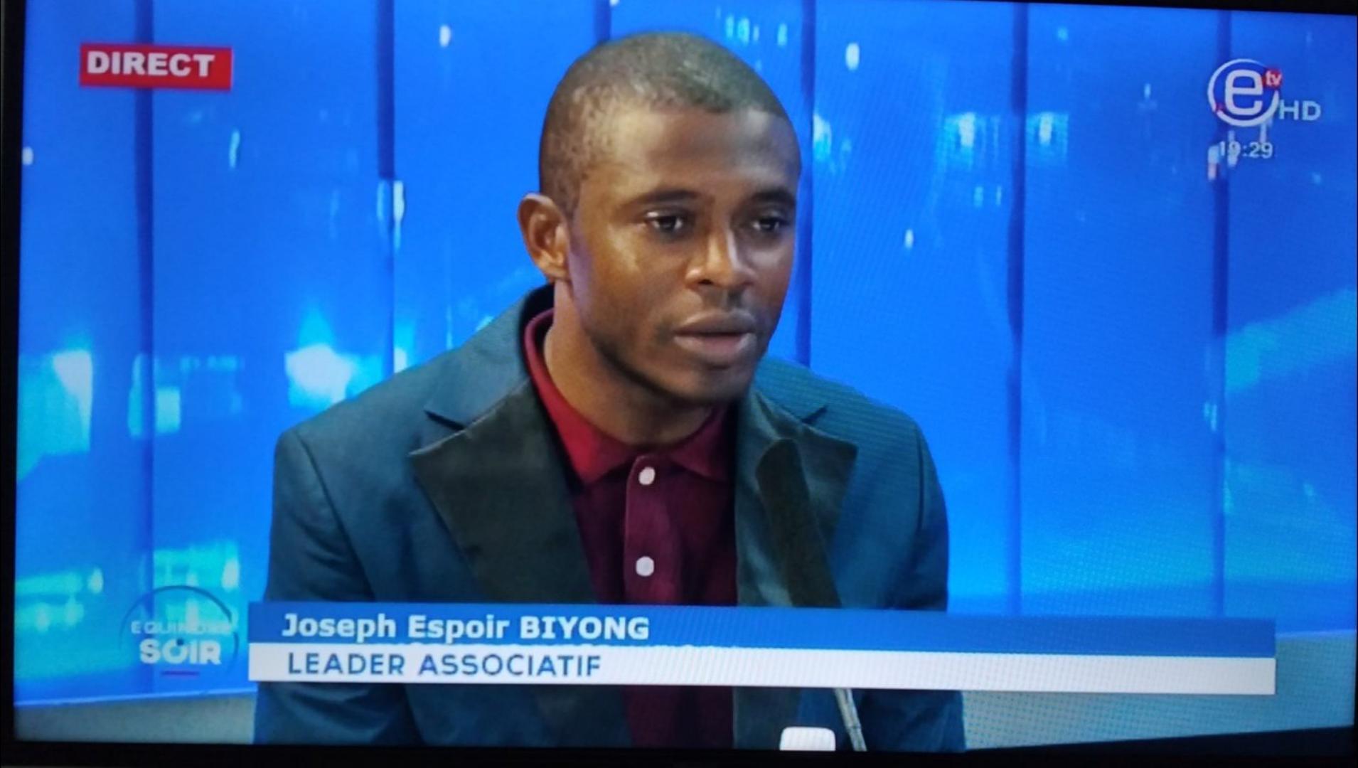 Joseph Espoir Biyong persiste, il continuera à intervenir dans les médias