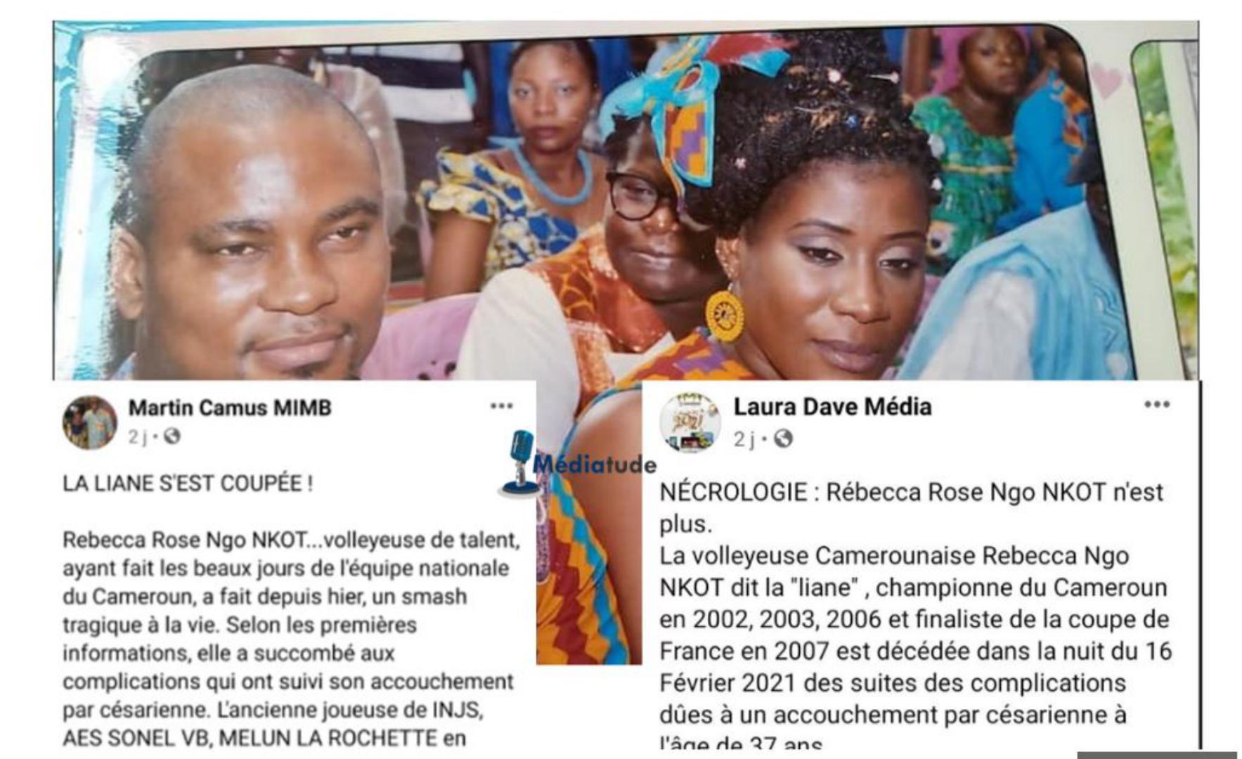 L'époux de la volleyeuse Rebecca Ngo Nkot accuse certains médias d'avoir menti sur les causes du décès de son épouse